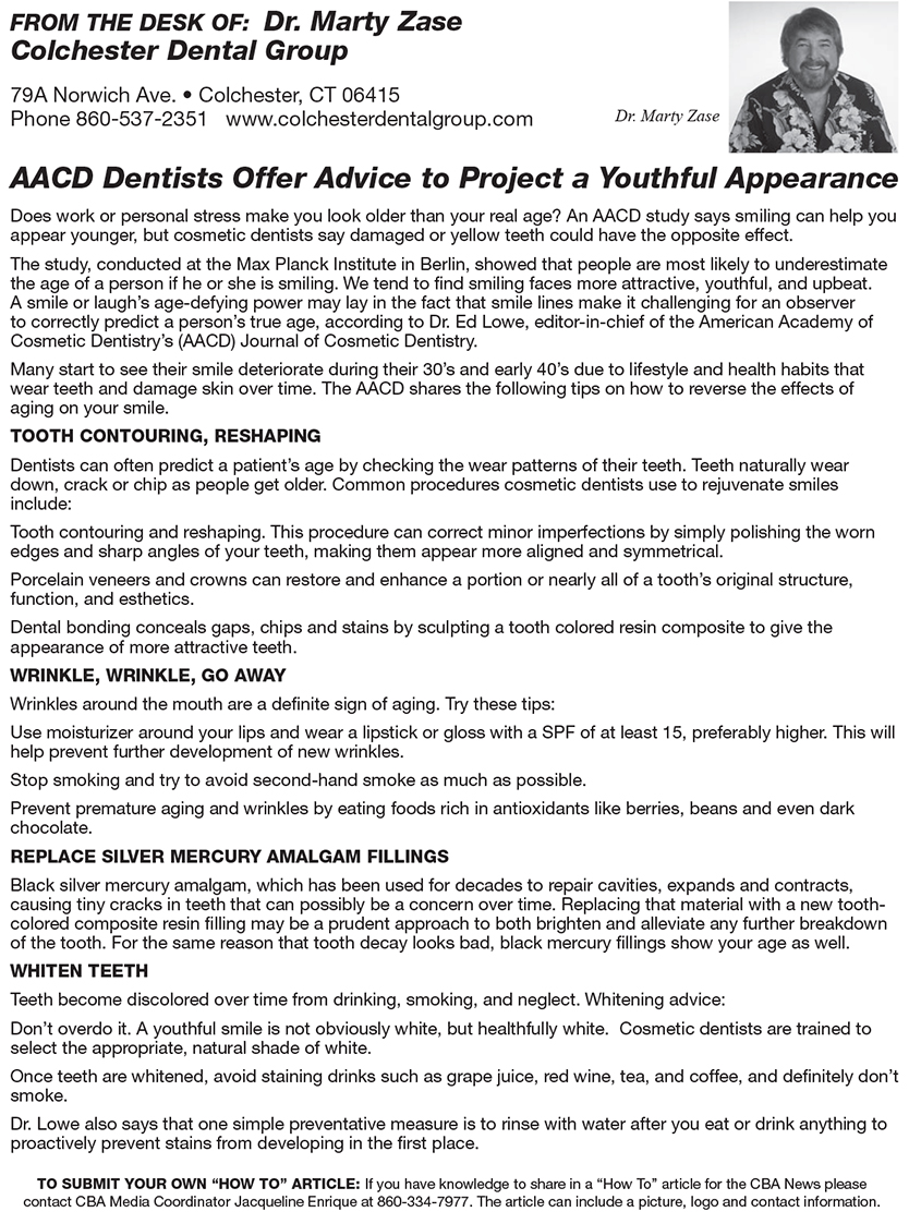 Aacd Dentists Offer Advice To Project A Youthful Appearance