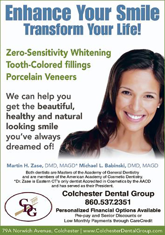 Cosmetic Dentistry in Connecticut at Colchester Dental Group
